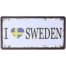 Blechschild Abenteurer  Schweden