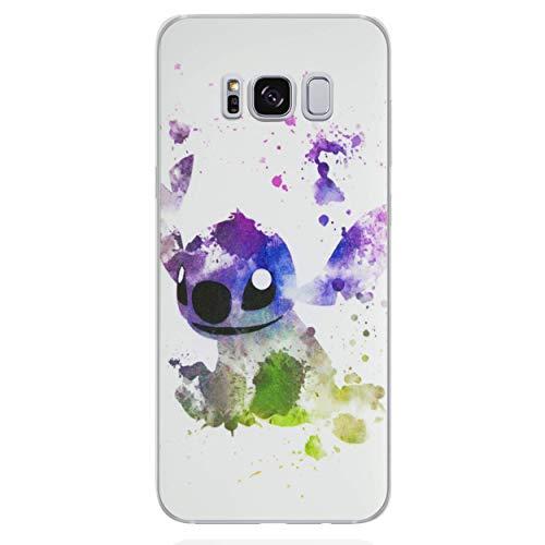 Disney Fan Art Telefon Hülle/Case für Samsung Galaxy S7 (G930) mit Displayschutzfolie/Silikon Weiches Gel/TPU/iCHOOSE/Stitch Galaxy Case Fan