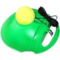 TOOGOO Tennis Training Tool Ejercicio Pelota de tenis Self Study Bola de rebote con Tennis Trainer Skirting Sparring Device