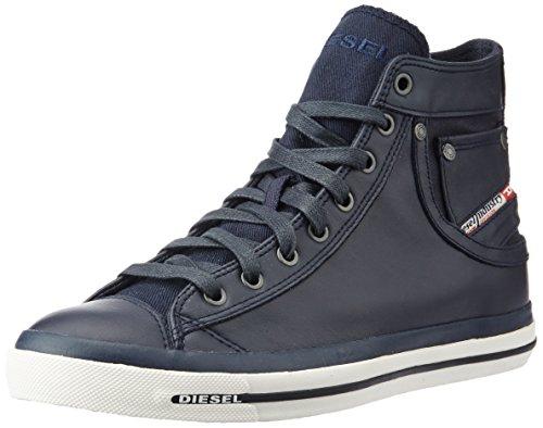 Diesel MAGNETE EXPOSURE I - Glattleder Herren Hohe Sneakers Blau (T6065 Blue Nights)