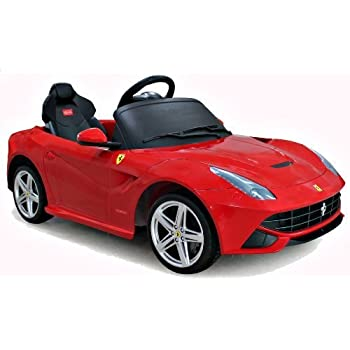 this item ferrari f12 berlinetta ride on sports car 6v battery electric kids car red