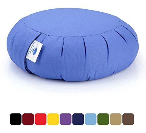 Zafu Cuscino Meditazione, Cuscino di Supporto (Grano saraceno) - Bluette