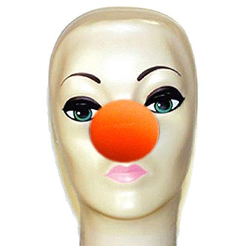 Kostüm Machen Schaumstoff (Magic by Gosh orange Schaumstoff Clown Nase)