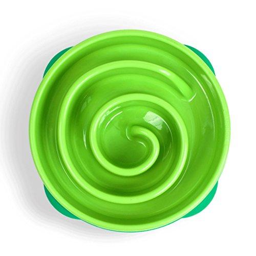 Slow Food Bowl Hundebecher Beissfeste Reisschüssel zur Förderung der Verdauung Hund Platte (Farbe : 3#, größe : 28 * 5cm)