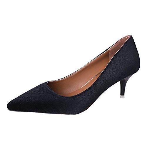Fashion Lady chaussures printemps point lumineux/chaussures à talon haut stiletto/Chaussures de loisirs A