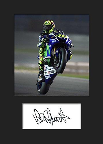 Valentino Rossi #3 | Signierter Fotodruck | A5 Größe passend für 6x8 Zoll Rahmen | Maschinenschnitt | Fotoanzeige | Geschenk Sammlerstück