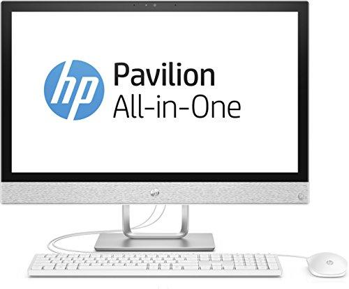 HP Pavilion 24-r001ng 60,4cm (23,8 Zoll/Full HD) All in One Desktop PC (AMD Quad-Core A12-9730P APU, 8GB RAM, 256GB SSD, 1TB HDD, Windows 10) Weiß (All In One Kamera)