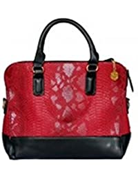 Vj's Fish Style Ladies Hand Bag With Red Color (12 Inch * 10 Inch)