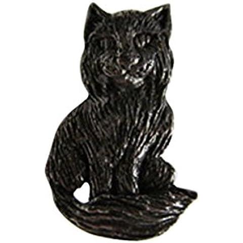 Whimsical in peltro, a forma di gatto,