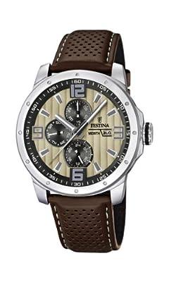 Reloj Festina F16585/6 de cuarzo para hombre con correa de piel, color marrón de Festina