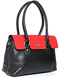 Satyapaul Women's Handbag (BlackRed)