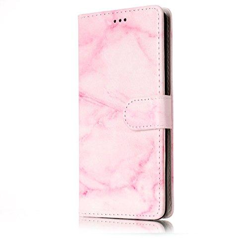 Für Huawei P9 Lite Case Cover Luxus Blume / Marmor Textur Premium PU Leder Brieftasche Fall mit Magnetverschluss & Halter & Card Cash Slots ( Color : G ) D
