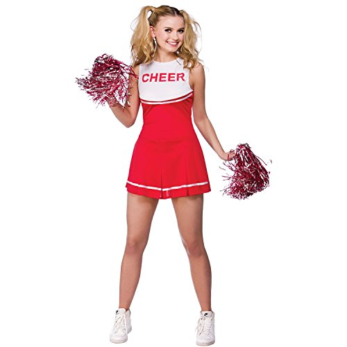 VADOOLL Damen High School Cheerleader Abend Dress Up Party Halloween Kostüm Kleid Outfit ROT (Up Outfit Dress Cheerleader)