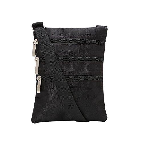 Dairyshop Donne Piccola borsa Borsa borsa della del sacchetto del corpo della borsa del sacchetto (Nero) Nero C
