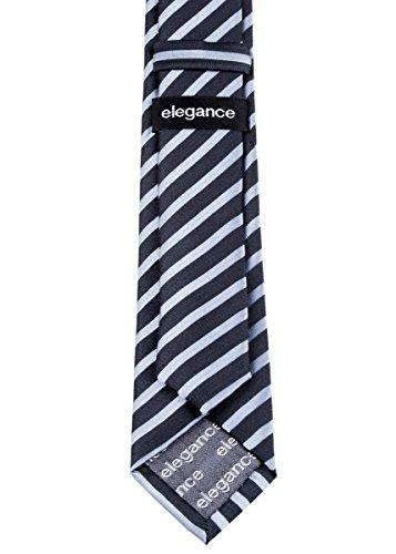 Retreez tissé élégant Diagonale à rayures en microfibre 5,1cm Skinny Tie–Différentes couleurs Noir - Noir