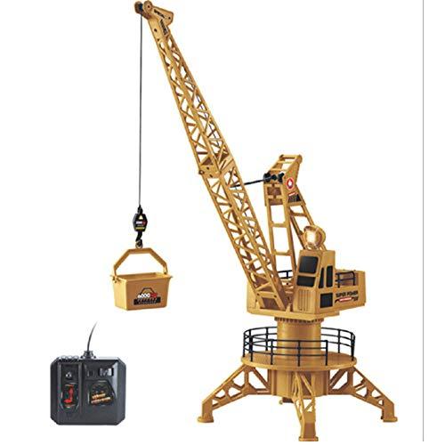 WRF RC Turmkran Spielzeug für Kinder, Simulation DIY BAU Spielzeug LKW mit 360 ° Drehung, Licht und Ton, Kinder