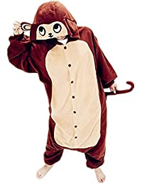 Samgu-singe animal Pyjama Cospaly Party Fleece Costume Deguisement Adulte Unisexe
