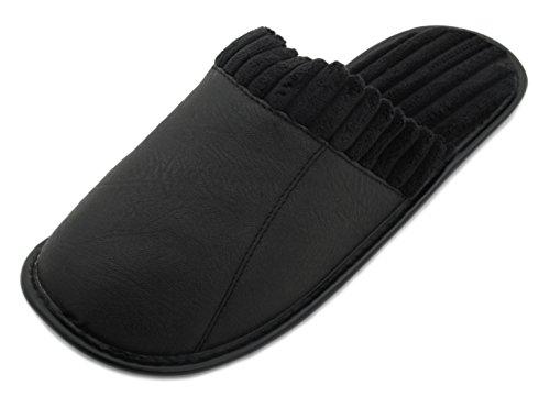 Pantofola In Pelle Da Uomo Zest Nella Parte Posteriore Nera