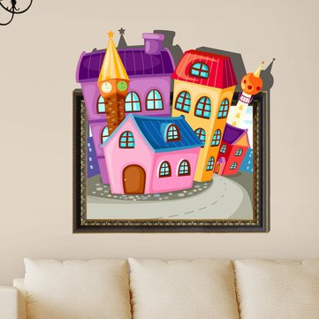 3D Baby Kids Room Cartoon Lovely Cute Home Wall Decals Removable Wall Paper Stickers Art DIY Gift Decoration