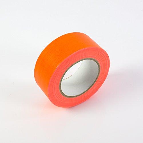 Gaffa Tape neonorange uv-aktiv, 50mm x 25m, wasserabweisend - Gewebeklebeband / Gaffer Klebeband - showking