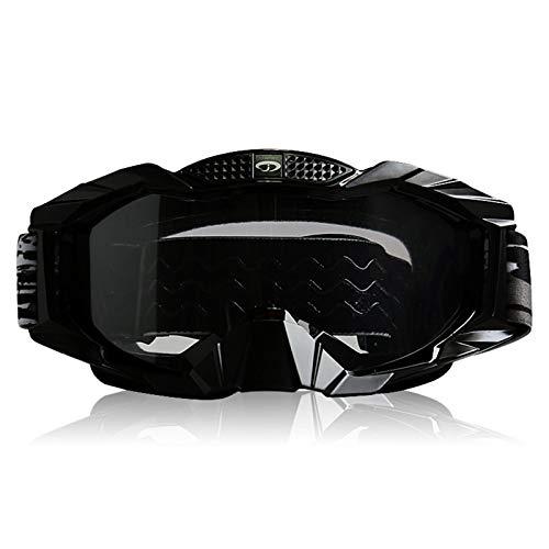MaxAst Sonnenbrille Motorrad Brille Polarisiert Schutzbrille Unisex Durchsichtig Schwarz
