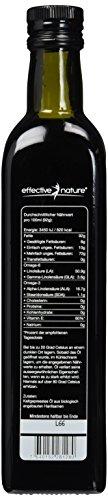 Hochwertiges Hanföl 500ml - kalt gepresst - 100 Prozent Bio - Optimales Omega-3 und Omega-6 Verhältnis - 4