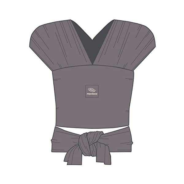 Manduca Sling (Slate) Manduca 100% organic cotton, soft, cosy & light knit fabric Elastic and yet stable thanks to bi-elastic knit fabric, without elastine Low in weight 4