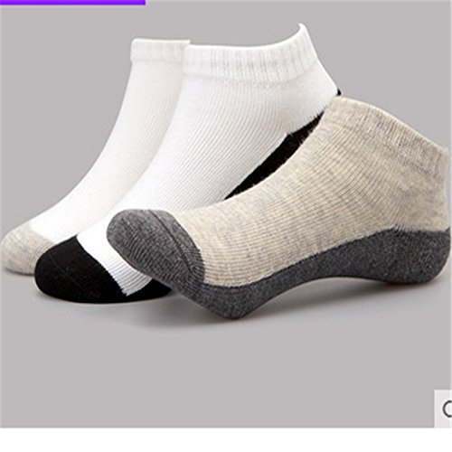 GLM Children Socks Socks Children Summer Male Socks Children Loose Shallow Mouth Mouth Breathable Sweat Socks 10 Pairs,Color Mixing,20-22