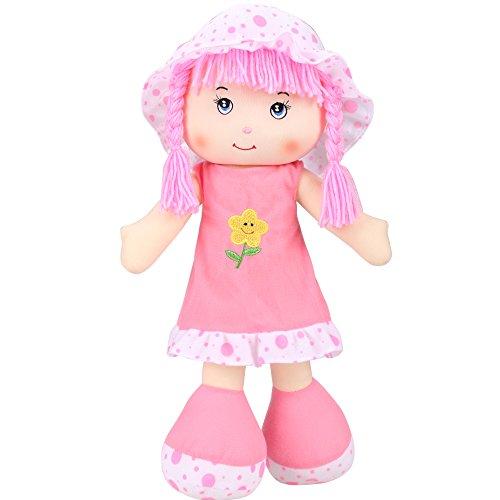 Smibie Plüschpuppe Puppe für Baby und kleine Mädchen Kinder Spielzeug Rosa (Mädchen Suchen Kleider Kleine)