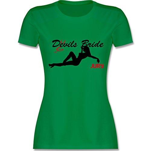 JGA Junggesellinnenabschied - Devils Bride - Jury - tailliertes Premium T-Shirt mit Rundhalsausschnitt für Damen Grün