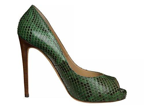 DOLCE&GABBANA Femmes Chaussures à talons hauts cuir véritable Vert