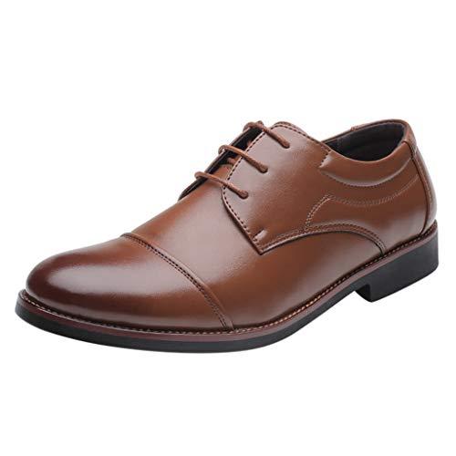 Herren Schnürhalbschuhe,Business-Schuhe Herren - Herren Anzugschuhe Business Schuhe Lederschuhe aus Leder für Beruf und Schwarz Braun -