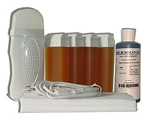 Storepil - Kit épilation Eco chauffe cire à épiler 4 x 100 ml MIEL + Bandes + Huile post épilation