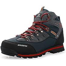 GNEDIAE hombre Botas de Senderismo Impermeables de ocio al Aire Libre Zapatos de Deporte Zapatillas de Senderismo cordones Trainer botas 40-46