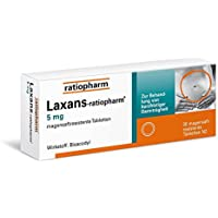 Preisvergleich für Laxans-ratiopharm 5mg 30 stk