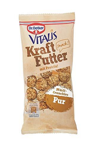 Dr. Oetker Vitalis Kraftfutter Pur: Pausen Snack und Fingerfood mit Protein und Müsli Crunches mit Honignote, 7er Packung (7 x 45 g)