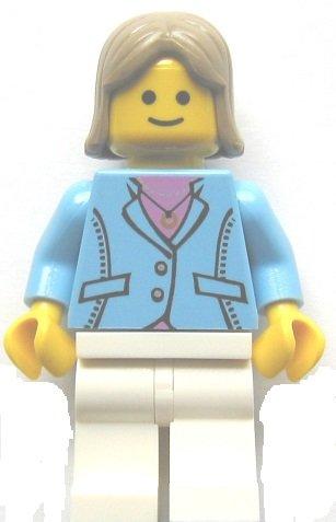 LEGO City - Minifigur Frau aus Set 10182 Cafe Corner (Café Corner)