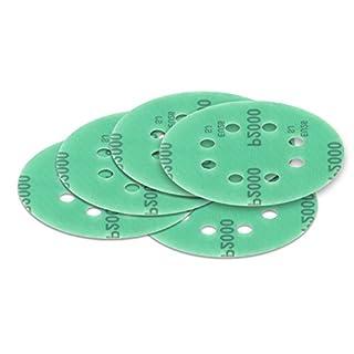 10 Stück 125 mm Exzenter Schleifscheiben P600 Körnung, 8 Loch, green Film, Haft Klett Schleifpapier