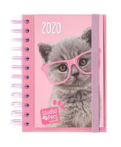 ERIK - Agenda anual 2020 Studio Pets Cat, día página (11,4x16 cm)