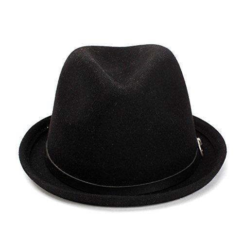 Lawevan® Bow Femmes formelles Chapeaux Dôme Bowler plat noir
