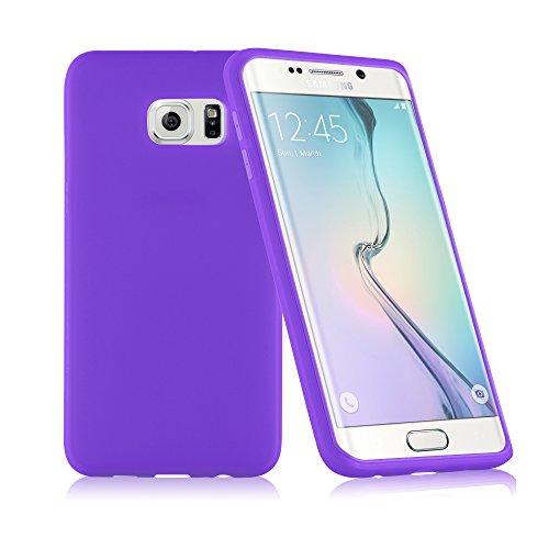 Preisvergleich Produktbild Cadorabo - TPU Silikon Schutzhülle (Full Body Rund-um-Schutz auch für Das Display) für > Samsung Galaxy S6 Edge Plus < (SM-G925F) in Flieder-VIOLETT