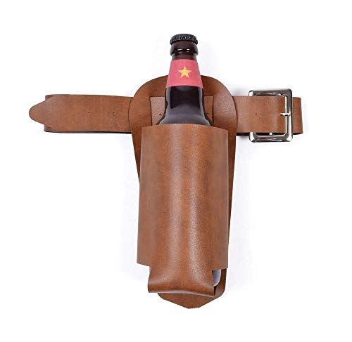 shoperama Getränkehalter für Bierflaschen Cowboy Halfter Pistolengurt Pistolenhalfter Kostüm-Zubehör Gürtel Tasche