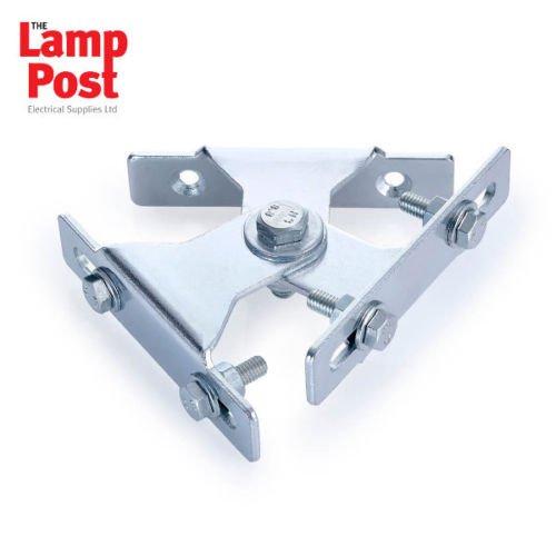 Zwei-lampe Flutlicht (KR Products KRP2 Flutlicht, Wandmontage, verstellbar, schwenkbar, für 2 Lampen)