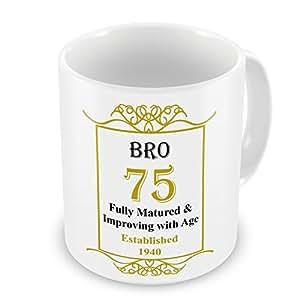 BRO 75. Geburtstag festgelegten 1940 Jahres Tasse, goldfarben