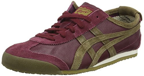 Asics Mexico 66 Vin - Sneakers basses mixte adulte Rouge (Zinfandel/Olive)