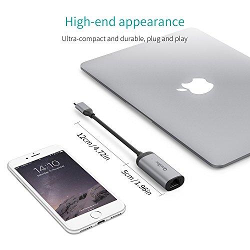41XRIqkWQ L - [Amazon.de] QacQoc USB-C auf Ethernet Adapter für 11,89€ statt 16,99€