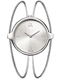 Calvin Klein Damen-Armbanduhr Analog Quarz Edelstahl K2Z2S11W