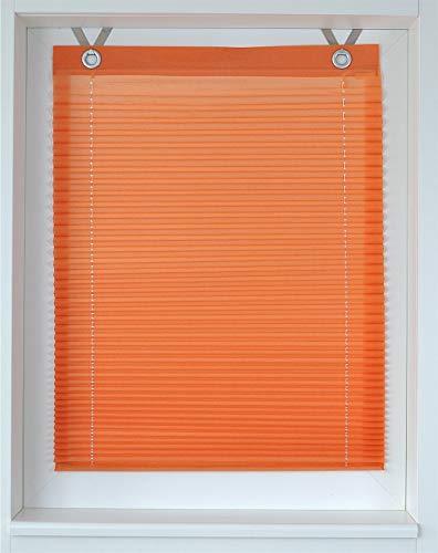 Raffrollo/Ösenrollo/Plissee Olbia orange Marc Öse ca. 100 * 125 cm