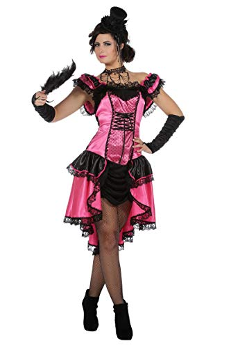Burlesque Kostüm Tanz - Wilbers Can Can Girl Kostüm Saloon Damenkostüm Damen Show Tanz Burlesque Karneval Pink Pink 38
