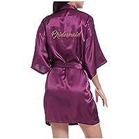 Morbuy Kimono Mujer Batas, Camisón de la Boda para el camisón Nupcial de la Novia